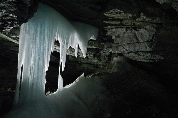 Im Inneren ist es frostig kalt.