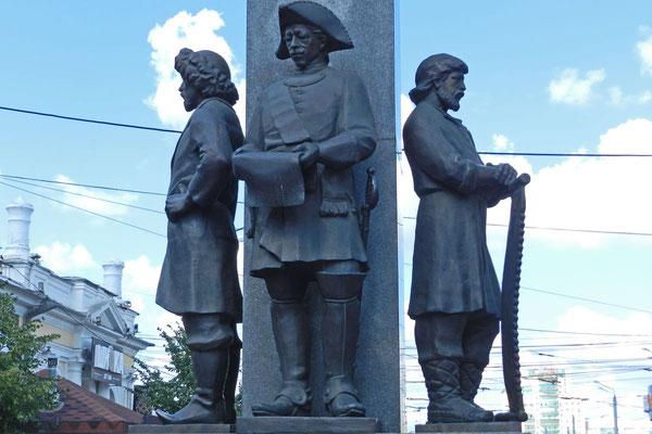 Die Stadtgründer von Tscheljabinsk im Ural