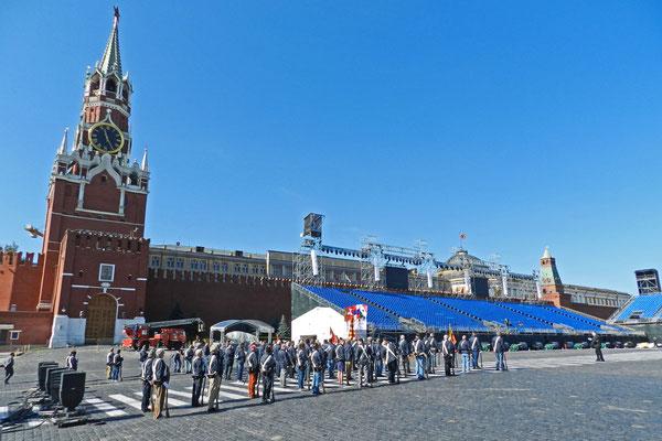 Manchmal wird der Rote Platz auch mit Bühnen vollgestellt.
