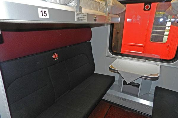 Abteil im Moskau-Paris-Express