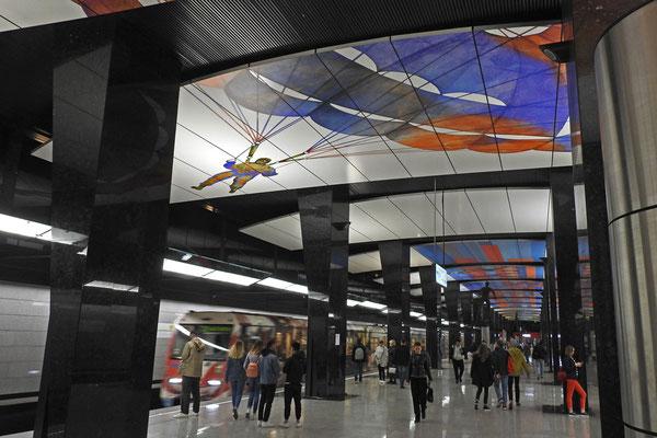 """Ganz neu ist die Station """"ZSKA"""" im Nordwesten der Stadt"""