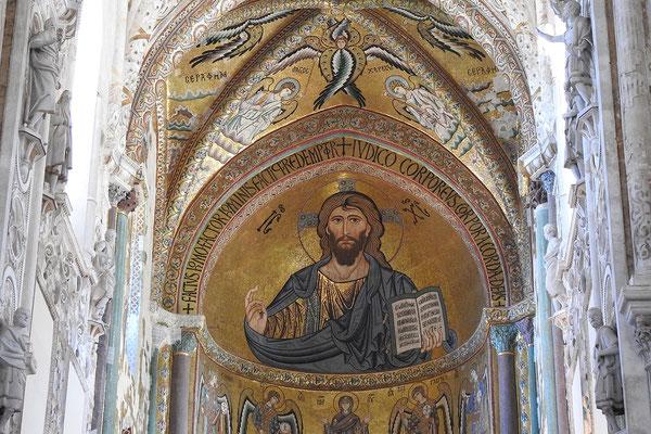 Christus als Weltenherrscher im Dom von Cefalù