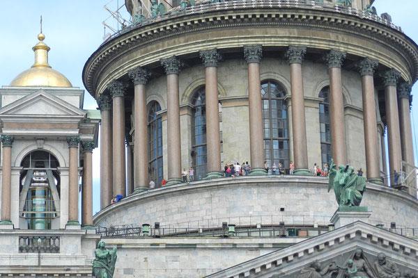 Grandiose Aussicht aus 43 Metern Höhe auf Sankt Petersburg.