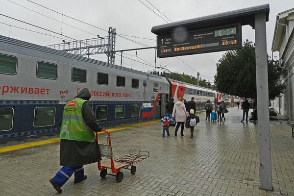 Doppelstock-Schlafwagenzug Moskau-Sotschi-Adler