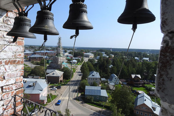 Auf dem Glockenturm der Kirche