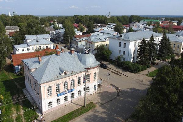 Blick auf das Stadtzentrum mit der Residenz des Weihnachtsmanns