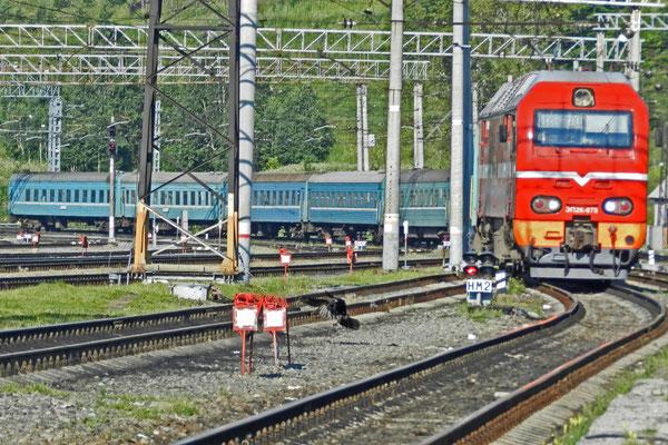 Mit dem Zug Moskau-Karaganda wollen wir ein paar Stationen mitfahren.