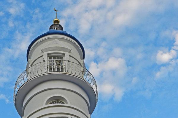Minarett der Weißen Moschee von Astrachan