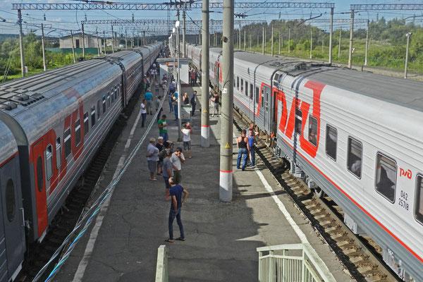 Zwischenhalt südlich von Moskau
