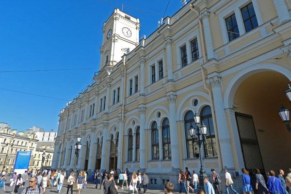 Der Petersburger Hauptbahnhof aus dem 19. Jahrhundert