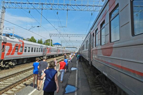 Zwischenstopp auf der Zugfahrt zurück nach Moskau.