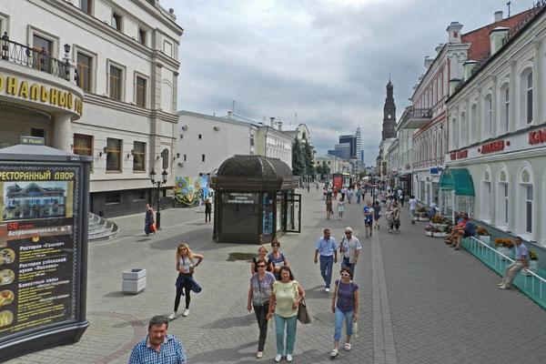 Blick auf die Bauman-Straße von Kasan