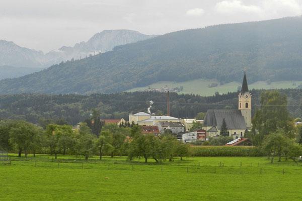 За окном поезда - Баварские Альпы.
