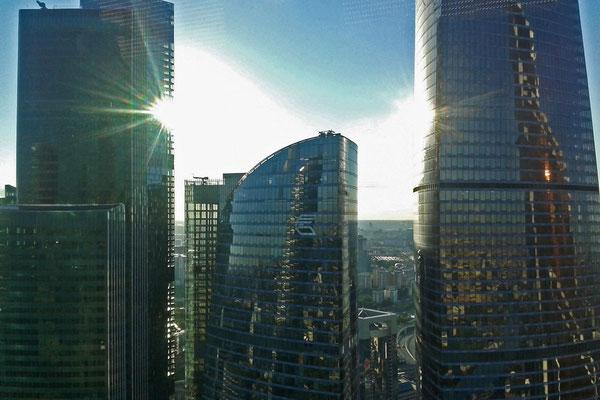 Fassaden der Moskau City