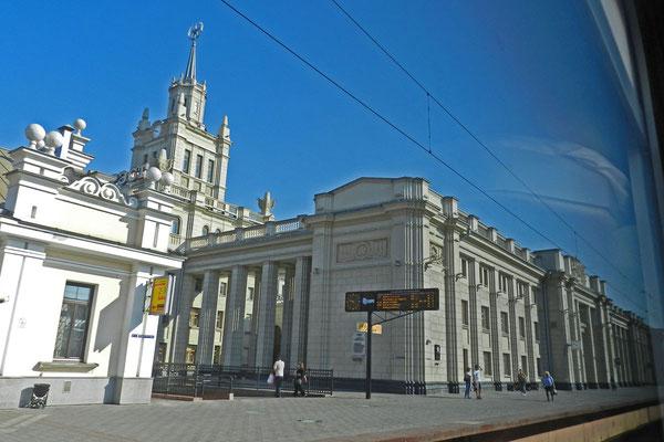 Am bombastischen Grenzbahnhof in Brest beginnt das Breitspurland