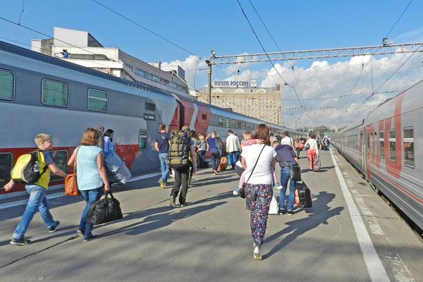 Abfahrt Richtung Samara