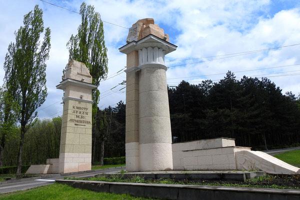 Wegweiser zum Lermontow-Denkmal