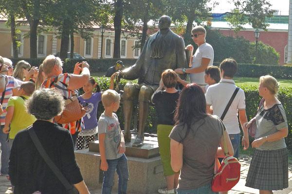 Michail Schemjakins Peter der Große mit Schrumpfkopf