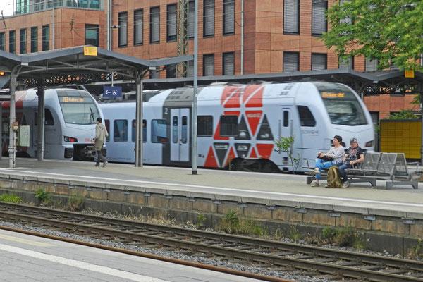 Ждем поезд во Франкфурт.