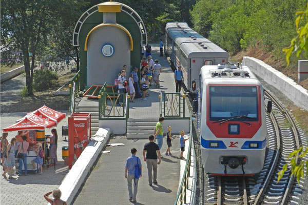 Die Kindereisenbahn von Orenburg hat sogar neue Züge
