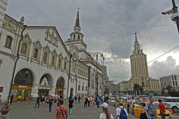 Die Reise Richtung Ural beginnt am Platz der drei Bahnhöfe in Moskau.