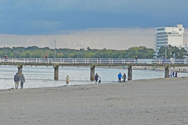 Пляж в поселке Тиммендорферштранд.
