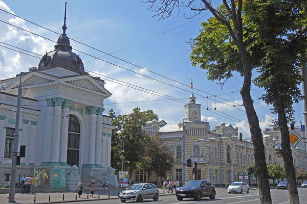Nur noch ein paar Altbauten stehen im Zentrum von Chisinau