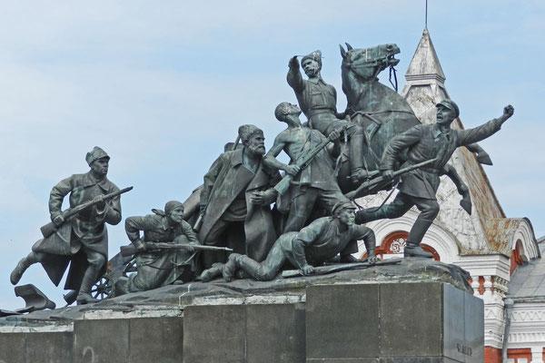 Denkmal für den Bürgerkriegsgeneral Wassili Tschapajew
