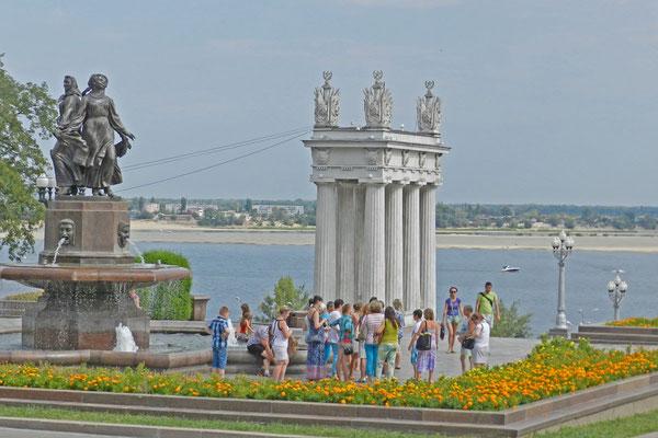 An der Uferpromenade der Wolga