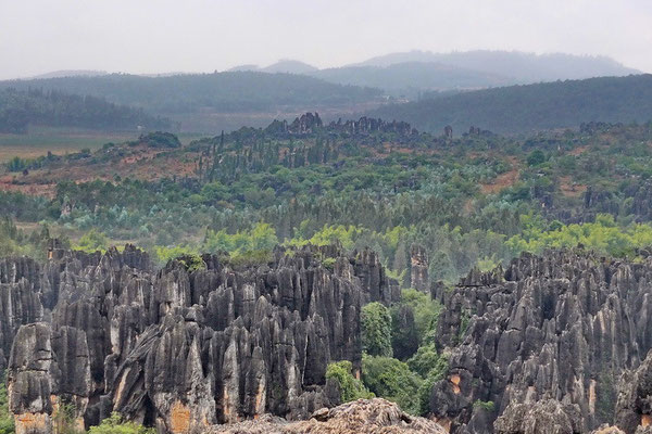 Het stenen woud bij Kunming.