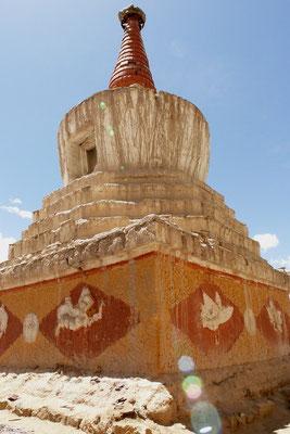 De grote stupa van het koninklijk paleis.