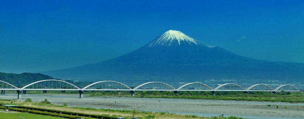 Mount Fuji vanuit de trein.