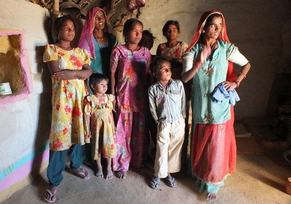 Familie in de Thar woestijn