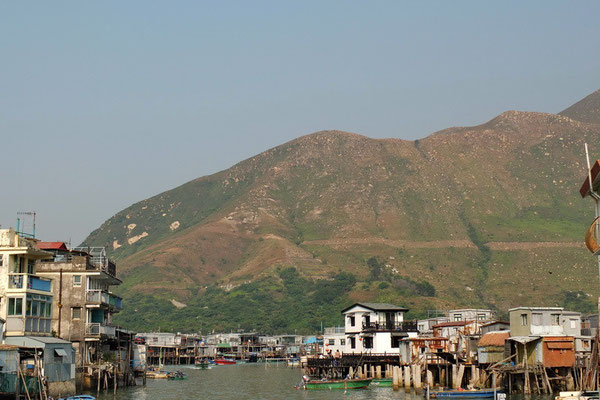 Het vissersdorpje op palen Tai O