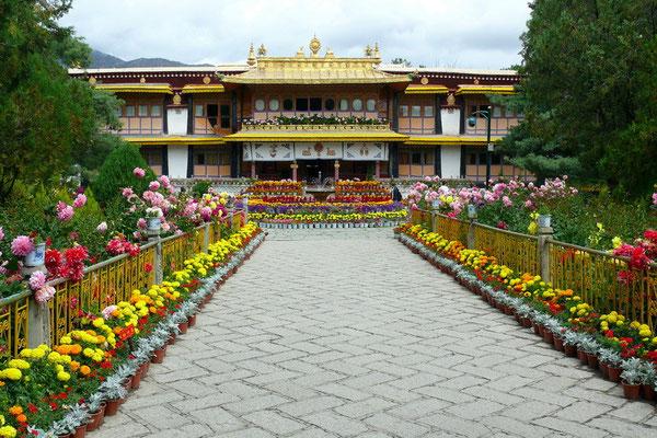 Het Norbulinka paleis was het zomerpaleis van de Dalai Lama