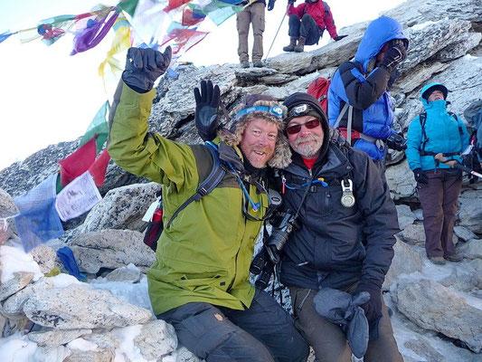 We hebben het hoogtepunt bereikt: Kala Pattar (5606 m.)