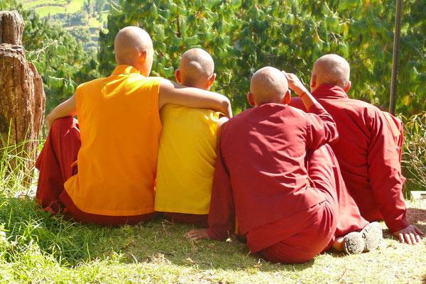 Monniken bij Nammo Bouddha