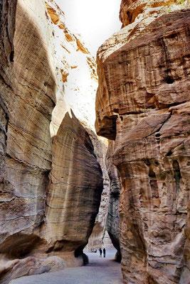 Al siq, de toegang tot het oude Petra
