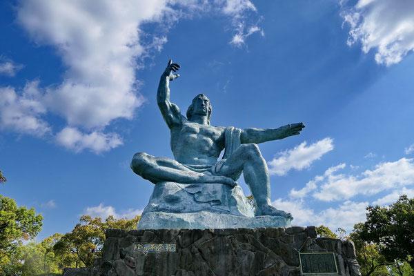 Het vredesbeeld in Nagasaki