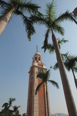 De klokkentoren in Hongkong
