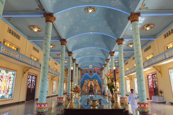 Het interieur van de tempel