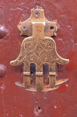 De hand van Fatima (als deurklopper)