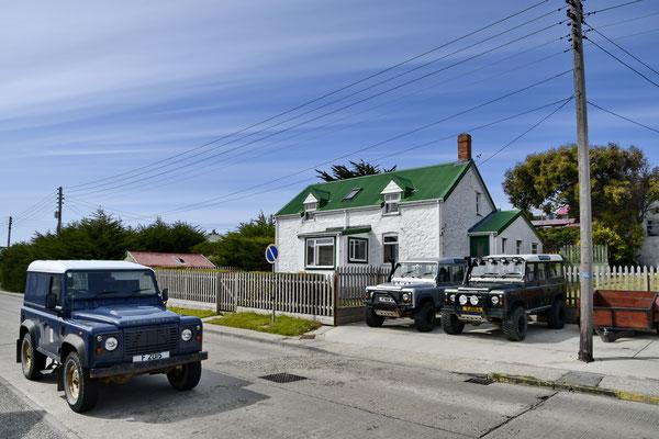 De Falklands hebben de hoogste Landrover-dichtheid ter wereld.