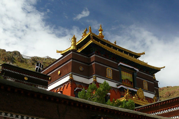 Het Tashilunpo klooster in Shigatse is de thuisbasis van de Panchen Lama; de op één na hoogste lama na de Dalai Lama.
