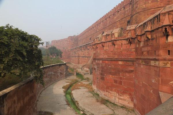 Het rode fort in Agra