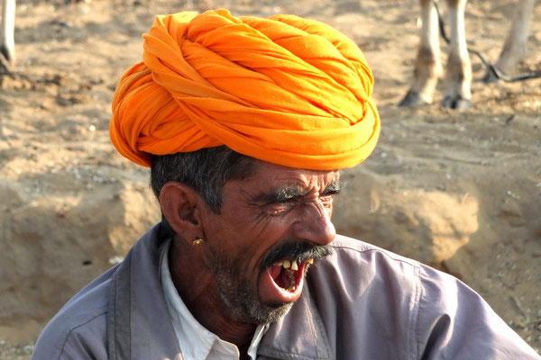 Rajastaan bij de Camelfair in Pushkar