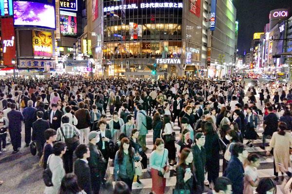 Shibuya kruispunt in Tokio