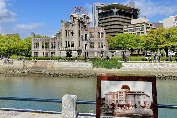 Vóór en ná de atoombom in Hiroshima