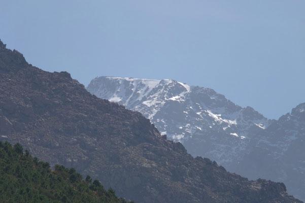 De Toubkal is de hoogste berg van Noord Afrika (4167 m)