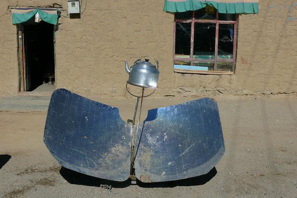 Water koken op zonne-energie